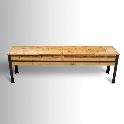 ספסל עם משטח Deck