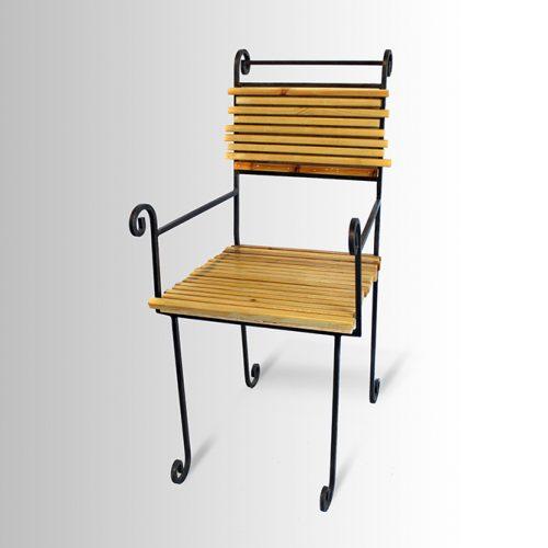 כסא משולב – ברזל ועץ