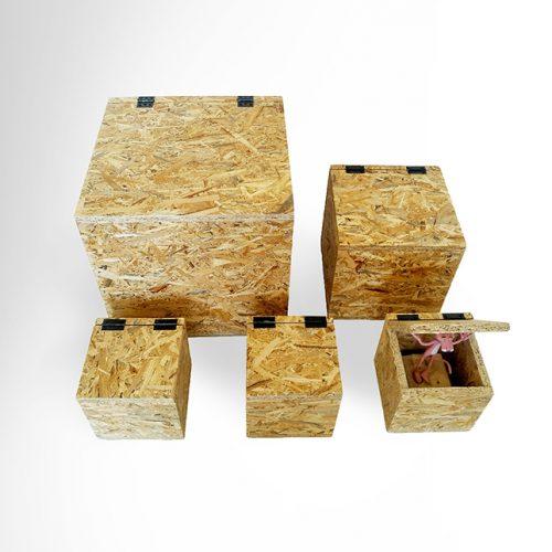 קופסאות וקוביות OSB