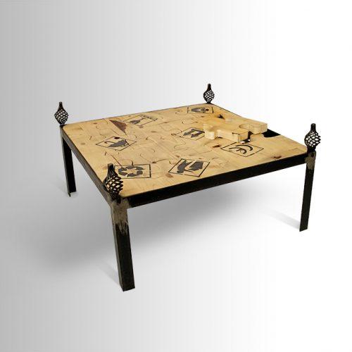 שולחן סלון פאזל מודפס