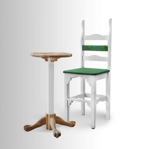 כסא גבוה עם שולחן תואם