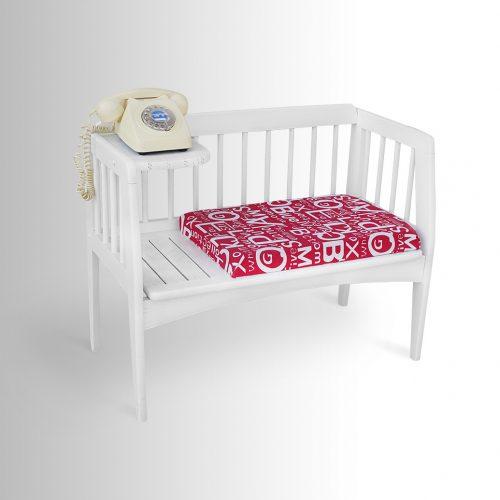 ספסל לטלפון (רהיט משוחזר)