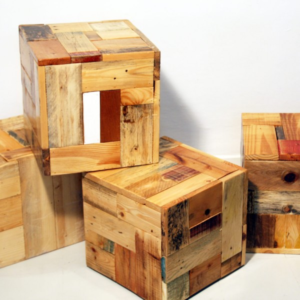 Bedouin Cubes with wood patterns - Ari Shomron Designs