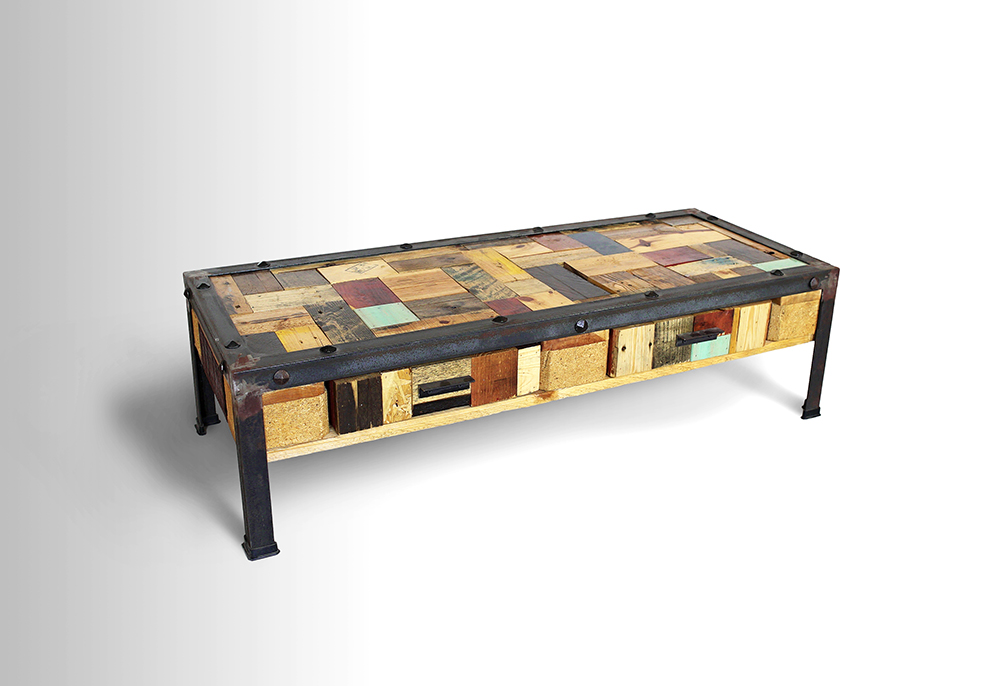 Wooden Collage Coffee Table U2013 2/3 Pallet
