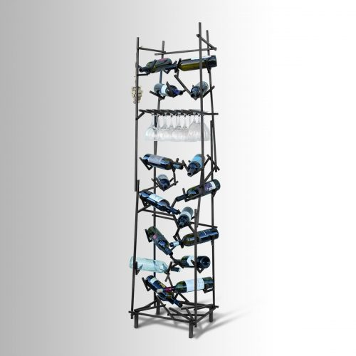 Asymmetric Metal Wine Rack