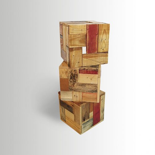 Bedouin Cubes with wood patterns
