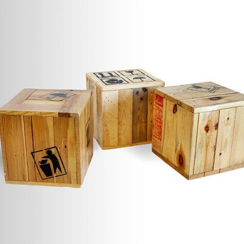 Printed Bedouin cubes