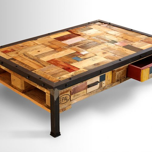 Wooden Collage Coffee Table