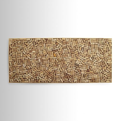 Bed headboard from 647 wine corks