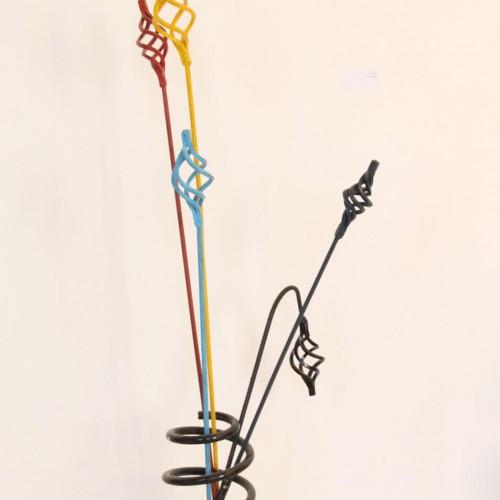 Metal Flowers Vase