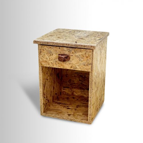 OSB Night Table w/ flint stone handle