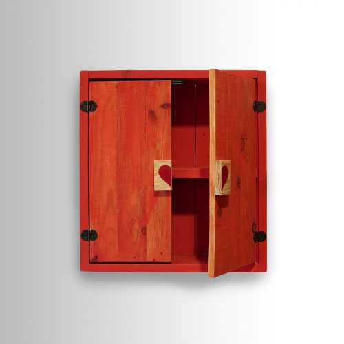 Red Cabinet w/ Heart handles