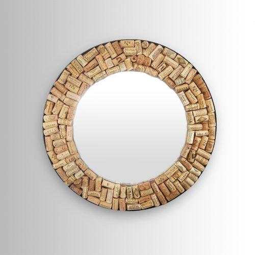 Round Cork Mirror