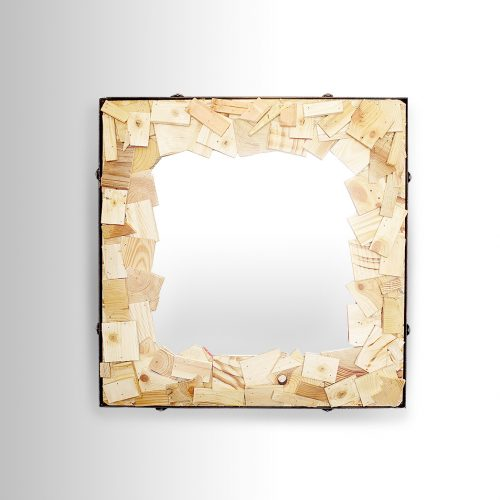 Wooden Particles Mirror