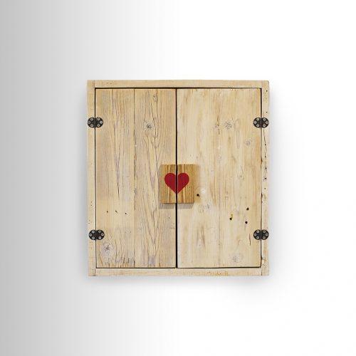 White Cabinet w/ Heart handles
