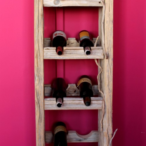 Wine-rack from Salvaged Wood
