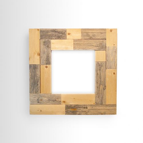 Wood Contrast Mirror